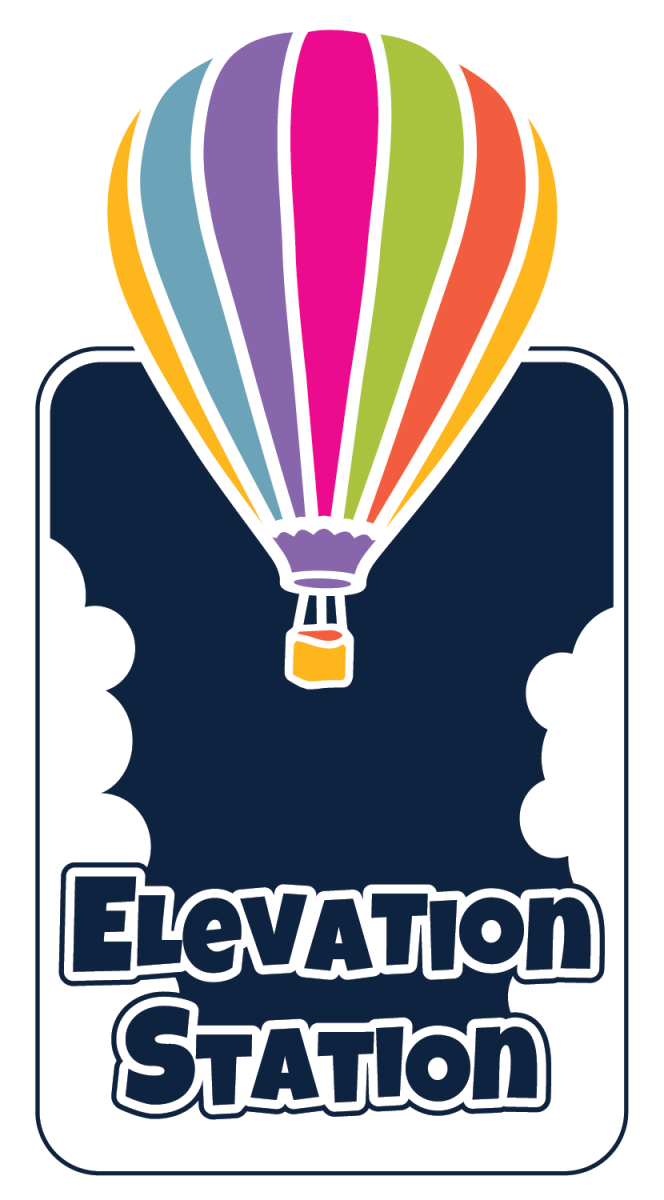 Logo for the Elevation Station Exhibition at the Anderson Abruzzo International Balloon Museum