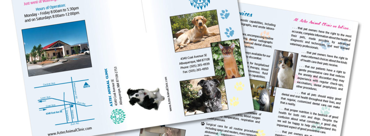Brochure for Aztec Animal Clinic