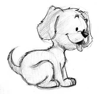 Just a sketch of a cute puppy