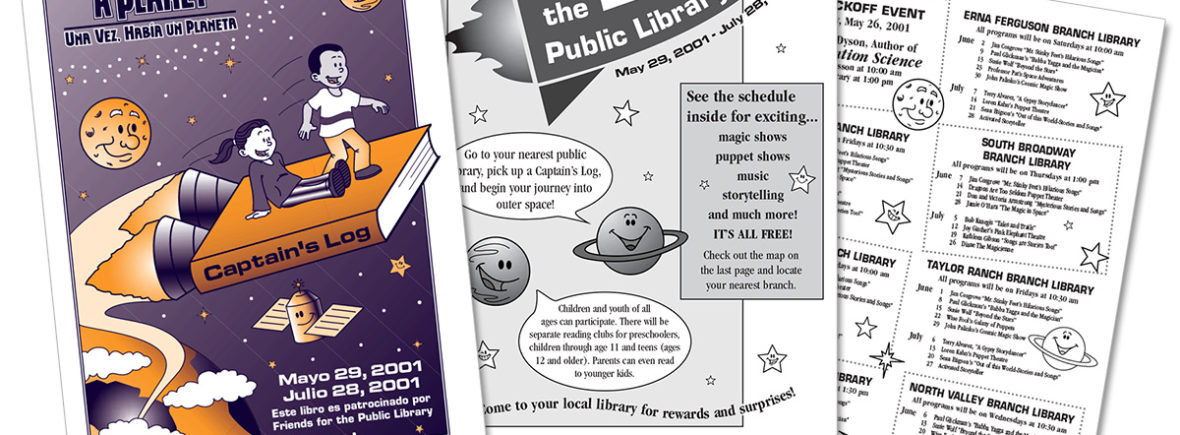 """""""Once Upon a Planet"""", 2001 summer reading program of the Albuquerque Public Library"""